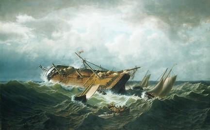 William Bradford, 'Shipwreck off Nantucket', c. 1860