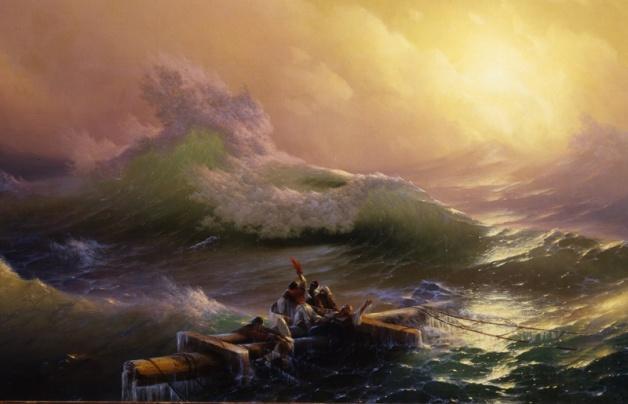 Ivan K. Aivazovsky, 'The Ninth Wave', 1850, central scene
